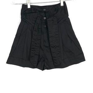 Zara Woman SAM Black Tie Waist Shorts   Size: XS